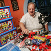 Globe/Roger Nomer<br /> Lyle Mays talks about his Lego collection, some of which are on display in downtown Carl Junction.