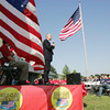 Globe/Roger Nomer<br /> US Sen. Jerry Moran addresses the crowd before Monday's ribbon cutting at Jake's Fireworks in Pittsburg.