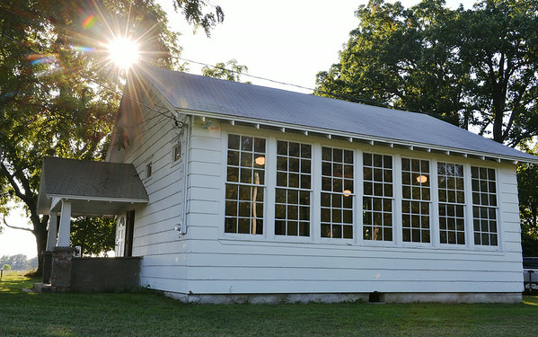 Globe/Roger Nomer<br /> The Kings Prairie School is a one-room school that is being preserved as a community building near Monett.