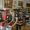 Globe/Roger Nomer<br /> Kelly Walker arranges a display at The Screen Door in Carthage on Thursday afternoon.
