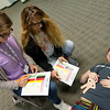 Globe/Roger Nomer<br /> Allison Peterson, left, and Grace Jackson check Abigail McGuire for symptoms during a triage exercise on Wednesday during Health Academy at Freeman East.
