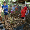 Globe/Roger Nomer<br /> Webb City and Carthage 4H members help clean up the Jasper County Fairgrounds on Monday morning.