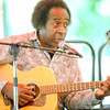 Musician Lem Sheppard entertains the crowd during Carver Day on Saturday at the George washington Carver National Monument near Diamond.<br /> Globe | Laurie Sisk