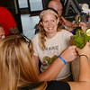 Globe/Roger Nomer<br /> Casey Owens toasts with friends after learning how to make mint juleps at Palace Pizza on July 1, 2014.