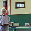 Globe/Roger Nomer<br /> Blanche Shelton talks about the history behind Kings Prairie School during an interview on Thursday.