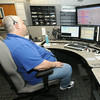 Dispatch team leader Jeff Boyer fields calls on Thursday at the Jasper County 911 Center.<br /> Globe | Laurie Sisk