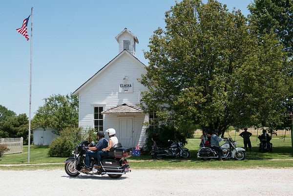 Globe/Roger Nomer<br /> Visitors to Red Oak II can view several historic buildings, including the Elmira schoolhouse.