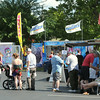 Revelers begin lining up at food vendors during the start of the Independence day celebration on Friday at Landreth Park.<br /> Globe | Laurie Sisk