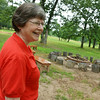 Globe/Roger Nomer<br /> Pastor Katharine Redpath talks about the fire circle at Peace Lutheran Church.