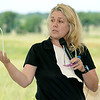 Missouri Director of Natural Resources Sara Parker Pauley talks about the dangers to natural resources during a dedication of the Carver Prairie on Saturday southeast of Joplin.<br /> Globe | Laurie Sisk