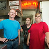 From the left: Fred & Red's new owner David Schaefer stands with veteran employees Heather Vallo and Chris McKeehan inside the famed restaurant on Wednesday. The mother/daughter duo has a combined 31 years experience at the Joplin landmark.<br /> Globe | Laurie Sisk