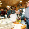 U.S. Rep. Billy Long, right, listens as Andy Cloud talks about Cloud's Meats during the 2016 7th District Agriculuture Tour on Friday in Carthage.<br /> Globe | Laurie Sisk