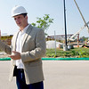 Tim Saxe, director of capital projects for the new Kansas City University of Medicine and Biosciences, discusses the timeline for construction on Wednesday. <br /> Globe | Laurie Sisk