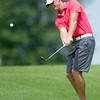 Defending champion Griffen Locke hits a chip shot on the no. 3 fairway during the Joplin Amateur on Saturday at Schifferdecker Golf Course.<br /> Globe | Laurie Sisk