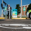 Globe/Roger Nomer<br /> Missouri Southern President Alan Marble talks on Wednesday about the electric car charging station placed at the Endzone Facility.