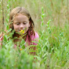 Seven-year-old Reaghan Hedrick, of Lee's Summit, gets a closer look and sniff at a wildflower while hiking a path at Wildcat Park on Wednesday morning. The park will soon be celebrating its 100th anniversary.<br /> Globe | Laurie Sisk