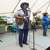 Reverend John Wilkins performs with his band on Saturday during the Carver Day Celebration at Carver National Monument. The Memphis-based band was one of six musical groups that entertained the crowd on Saturday.<br /> Globe | Laurie Sisk