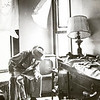 Morgan Heights resident J.R. Hooker assesses damage to his home in this 1966 photograph.<br /> Courtesy photo/Jasper County Records