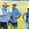 Bruce Schuette, vice president of science and management for the Missouri Prairie Foundation, leads guests on a tour of Carver Prairie on Saturday southeast of Joplin.<br /> Globe | Laurie Sisk