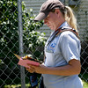 With heat indicies well above triple digits on Tuesday afternoon, letter carrier Cheyenne Musser makes her rounds on Tuesday afternoon.<br /> Globe | Laurie Sisk