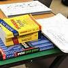 Class materials adorn a table during a Spanish Language emersion class for emergency responders on Thursday at Missouri Southern.<br /> Globe | Laurie Sisk