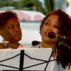 Singer songwriter Roz McCommon, of the Roz Gospel Trio, entertains the crowd on Saturday during Carver Day at the George Washington National Monument.<br /> Globe   Laurie Sisk