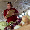 Globe/Roger Nomer<br /> Missy Jones, food ministry coordinator, shops on Thursday at the Webb City Farmers Market.