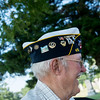 Globe/Roger Nomer<br /> CC Rock Conway, 15th district commander, Aurora, talks before Wednesday's check presentation at the Carterville Cemetery.