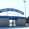 The new home for the Carthage Tigers sits waiting for fans at Carthage High School.<br /> Globe | Laurie Sisk