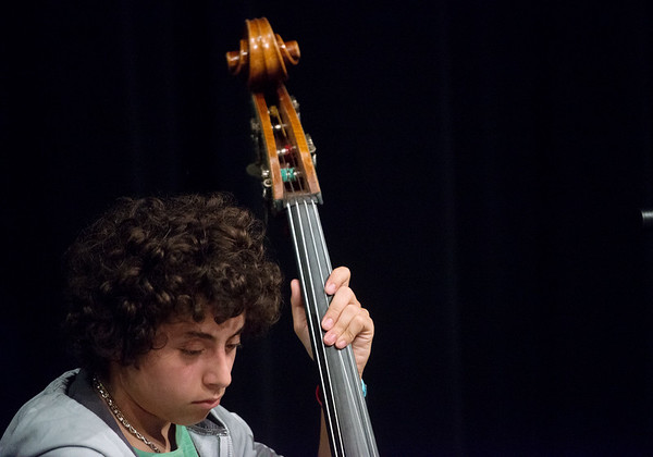 Globe/Roger Nomer<br /> Richie Joseph, a junior at Thomas Jefferson Independent Day School, plays on Monday during Jazz Camp at the school.