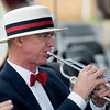 Globe/Roger Nomer<br /> Bill Kessler plays with the Heartland Concert Band on Tuesday during the Carl Junction Fourth of July Parade.