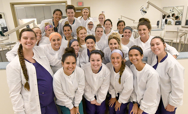 Missouri Southern dental hygiene students are all smiles on their last day of Summer Clinicals on Thursday at MSSU.<br /> Globe | Laurie Sisk