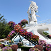 New to the grounds this year, a large floral cross awaits placement on Saturday on the grounds of the Congregation of the Mother Co-Redemptrix in Carthage in preparation for Marian Days, which begin Aug. 3 on the church grounds.<br /> Globe | Laurie Sisk