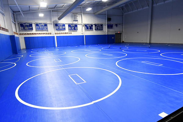 A spacious wrestling room awaits athletes inside the new Carthage High School fieldhouse.<br /> Globe | Laurie Sisk