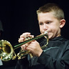 Globe/Roger Nomer<br /> Harrison Slinkard, 13, Neosho, plays along with the band on Monday during Jazz Camp at Thomas Jefferson Independent Day School.