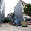 Construction continues on the Block 22 project at the National Bank building on Thursday in downtown Pittsburg.<br /> Globe | Laurie Sisk