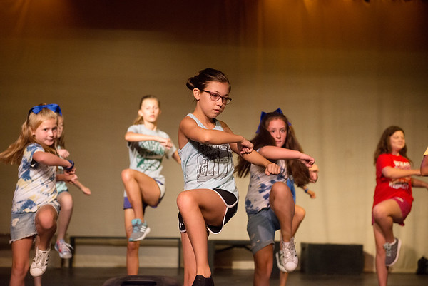 Anne Marie Wright, 12, practices a routine to Thriller during Tuesday's Joplin Little Theater Summer Workshop. The camp will give a final performance open to the public at 11:30 a.m. and 4:30 p.m. on Friday.<br /> Globe | Roger Nomer
