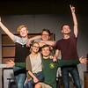 """(from left) Joseph Mitchell, as Wally, Julia Oney, as Lois, Tanner Munson, as Denny, Corbin Chaffin, as Skip, and Spencer Dawson, as Eugene, star in the Joplin Little Theatre' production of """"Life Could Be a Dream.""""<br /> Globe 