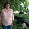 Marilyn Calvin, of Thunder Ridge Dairy, is concerned about the Mexican and Chinese tariffs.<br /> Globe | Roger Nomer