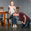 """Julia Oney, as Lois, and Spencer Dawson, as Eugene, rehearse a scene from """"Life Could Be a Dream"""" at the Joplin Little Theatre on Tuesday.<br /> Globe 