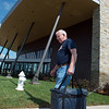 Clarence Long picks up a Meals on Wheels delivery at the new Joplin Senior Center on Monday.<br /> Globe | Roger Nomer