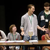 """Gavin Wilson, 16, Berryville, Ark., sings during rehearsal for """"The Addams Family"""" at the Next Generation Performing Arts Camp on Wednesday at Missouri Southern.<br /> Globe 