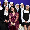 """Sister Mary Patrick (Cassie Hurt-McLarty,) Deloris Van Cartier -(MJ Harper) and Sister Mary Robert (Adde Labbe) join the other sisters as they rehearse for the Pittsburg Community Theatre production of """"Sister Act"""" on Tuesday night at Pittsburg's Memorial Auditorium.<br /> Globe 