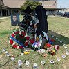 The Joplin Police Department has made a memorial to Joplin Officer David Brewer outside the department's headquarters. Officer Brewer was killed with his wife Stacey on Friday in an off-duty accident west of Columbus.<br /> Globe | Roger Nomer