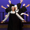 """Sister Mary Robert (Adde Labbe) leads the sisters during rehearsal for the Pittsburg Community Theatre production of """"Sister Act"""" on Tuesday night at Pittsburg's Memorial Auditorium.<br /> Globe 