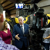 Missouri Gov. Mike Parson talks to members of the media after signing Missouri House Bill 2540 into law on Thursday at Hartman & Co. in Springfield. The plan lowers Missouri's personal income tax rate from 5.9 percent to 5.5 percent effective Jan. 1. and allows personal income tax rates to to dip to 5.1 percent if the state hits revenue targets in the future.<br /> Globe | Laurie Sisk
