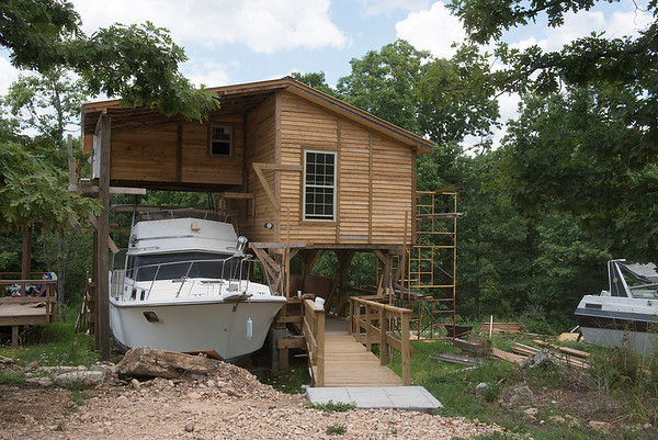 A laguna with boats is being constructed at Rush Springs Ranch in Pineville.<br /> Globe   Roger Nomer