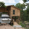 A laguna with boats is being constructed at Rush Springs Ranch in Pineville.<br /> Globe | Roger Nomer