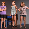 """From the left: Via Dennis, Anne Marie Wright and Amethyst Ogle rehearse their roles for the upcoming Jopln Little Theatre children's production of """"Bulldog Saves the Day,"""" a Vaudeville extravaganza and melodrama, which opens July 25 and runs through July 29 at JLT.<br /> Globe 