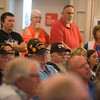 Veterans listen during a town hall on Monday at the Veterans Health Care System of the Ozarks.<br /> Globe | Roger Nomer